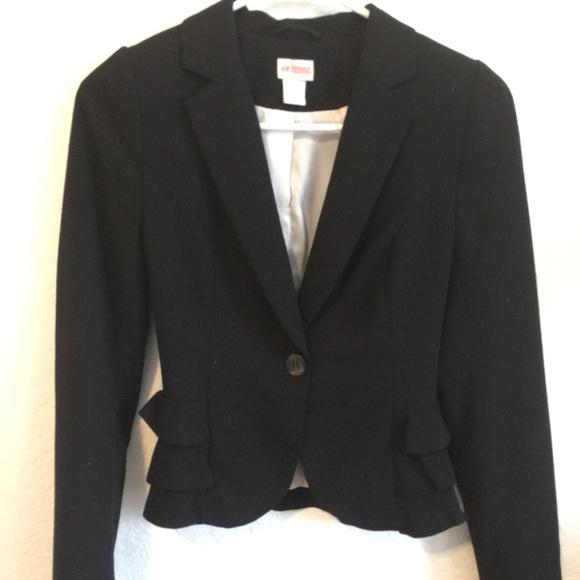 Women's Black Peplum Style Blazer